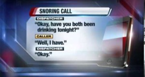 Man-calls-911-to-report-snoring-woman-in-bed