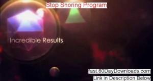 Stop Snoring Program Download it Free of Risk – legit customer review